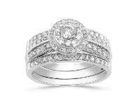 Bevilles 9ct White Gold 1.50ct Diamond Perfect Harmony Ring - L