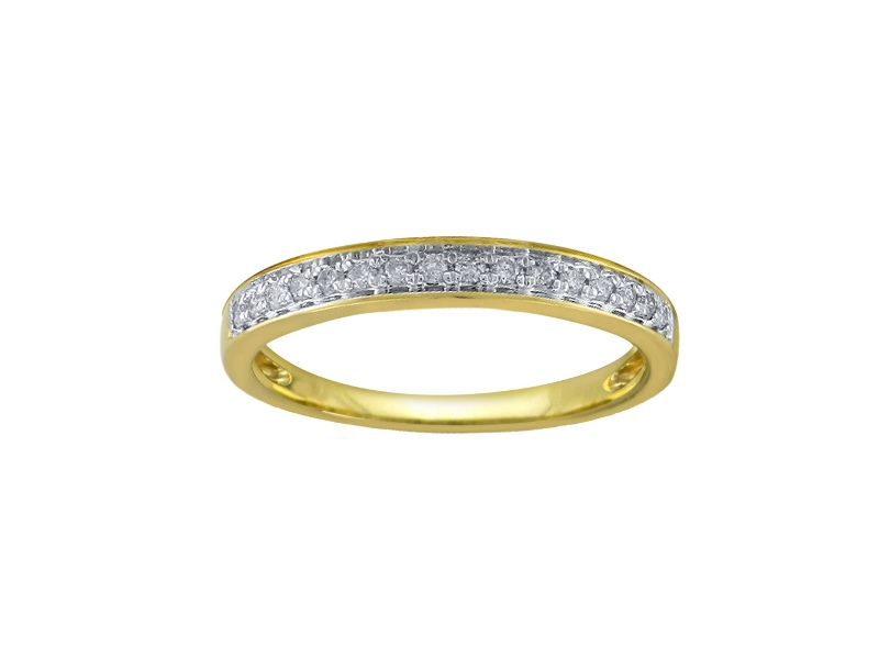 Eternity Ring with 0.15ct of Diamonds in 9ct Yellow Gold