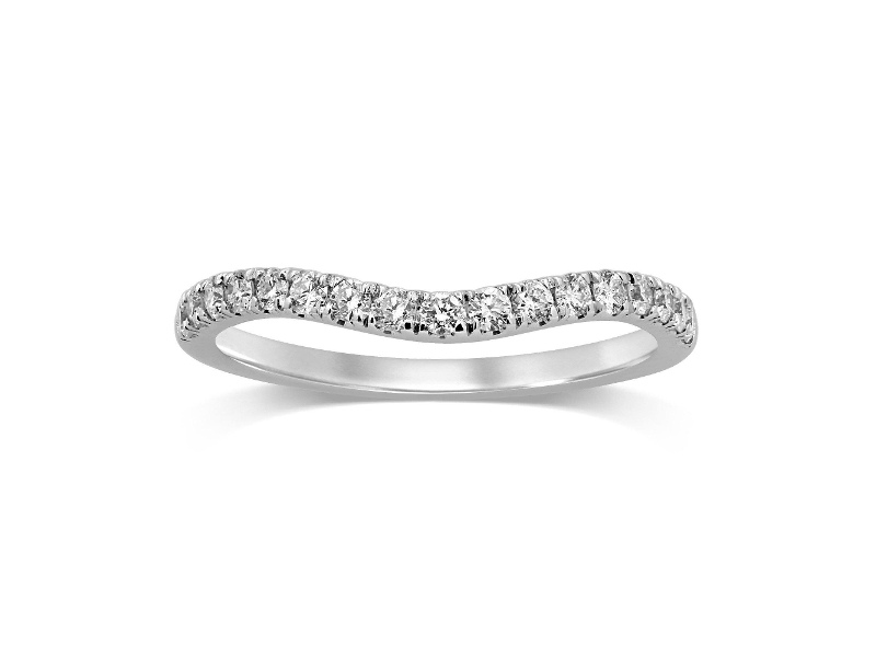 Curved Eternity Ring with 1/3ct of Diamonds in 18ct White Gold