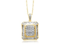 Bevilles 9ct Yellow Gold Diamond Necklace 0.50ct