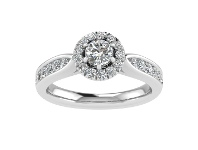 Bevilles Love by Michelle Beville 18ct White Gold 1ct Diamond Ring with Shoulder Detailing