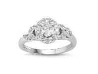 Bevilles Love by Michelle Beville Oval Solitaire Ring with 0.65ct of Diamonds in 18ct White Gold