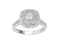 Bevilles Love by Michelle Beville Double Halo Ring with 1.00ct of Diamonds in 18ct White Gold - M