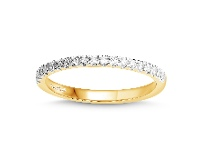Bevilles Love by Michelle Beville Eternity Ring with 1/5ct of Diamonds in 18ct Yellow Gold