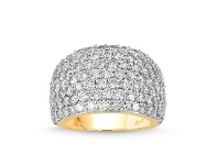 Bevilles Meera Pave Ring with 4.00ct of Laboratory Grown Diamonds in 9ct Yellow Gold - N