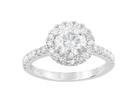 Bevilles Meera Halo Ring with 1.50ct of Laboratory Grown Diamonds in 18ct White Gold