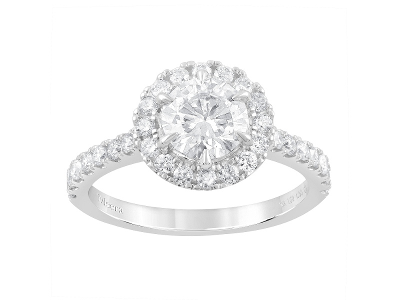 Meera Halo Ring with 1.50ct of Laboratory Grown Diamonds in 18ct White Gold