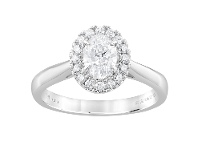 Bevilles Meera Halo Ring with 0.90ct of Laboratory Grown Diamonds in 18ct White Gold