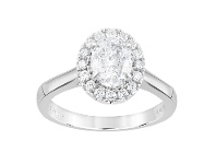 Bevilles Meera Halo Ring with 1.20ct of Laboratory Grown Diamonds in 18ct White Gold