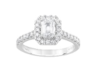 Bevilles Meera Halo Ring with 1.10ct of Laboratory Grown Diamonds in 18ct White Gold