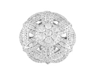 Bevilles Flower Ring with 2.15ct of Diamonds in 9ct White Gold