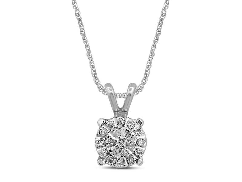 Martina Necklace with 0.10ct of Diamonds in 9ct White Gold