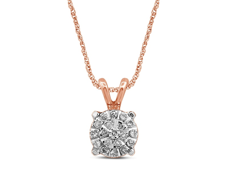 Martina Necklace with 0.10ct of Diamonds in 9ct Rose Gold