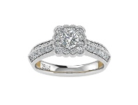 Bevilles Truly Zac Posen Empowering Collection 0.9ct Diamond Ring