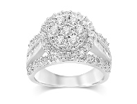 Bevilles Sterling Silver Brilliant Miracle Round Ring with 1.00ct of Diamonds