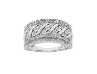 Bevilles Sterling Silver 0.33ct Diamond Ring