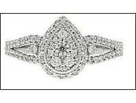 Bevilles Halo Ring with 0.45ct of Diamonds in 10ct White Gold