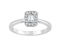 Bevilles Halo Ring with 0.15ct of Diamonds in 14ct White Gold