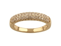 Bevilles Pave Ring with 0.45ct of Diamonds in 14ct Yellow Gold