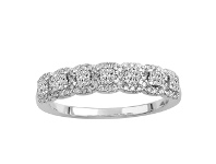 Bevilles Square Halo Ring with 0.50ct of Diamonds in 14ct White Gold