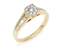 Bevilles Cluster Ring with 0.70ct of Diamonds in 14ct Yellow Gold