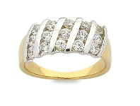 Bevilles Gold Plated 18ct Yellow Gold Ring