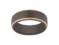 Bevilles Stanton Made for Men 8mm Tungsten Gold Plated Edges Ring