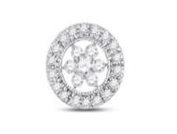 Bevilles Sterling Silver Cubic Zirconia Flower Halo Ring - O