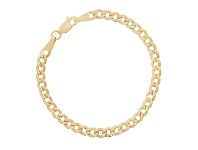 Bevilles Childrens 9ct Yellow Gold Silver Infused Curb Bracelet 15cm