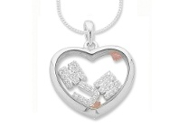 "Bevilles Loose Mum""Cubic Zirconia Letters in Heart Necklace"""