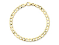 Bevilles 9ct Yellow Gold Silver Infused Bracelet 19cm