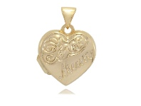 Bevilles Gold Infusion Mum Heart Locket 15mm