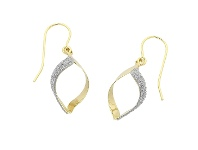 Bevilles 9ct Yellow Gold Silver Infused Stardust Drop Earrings
