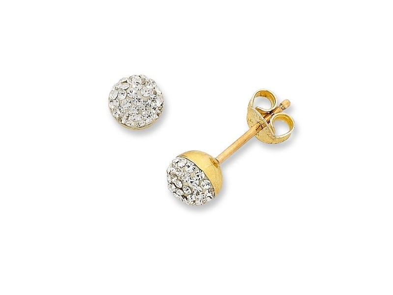 9ct Yellow Gold Silver Filled Stud Earrings