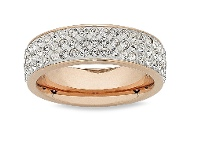 Bevilles Stainless Steel Crystal Ring