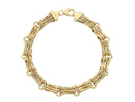 Bevilles 9ct Yellow Gold Gate Link Bracelet