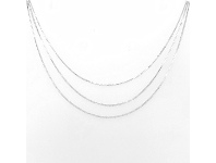 Bevilles Sterling Silver 3 Chain Necklace