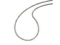 Bevilles Sterling Silver 50cm Curb Necklace