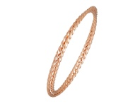 Bevilles Double Twist Bangle in Rose Stainless Steel