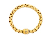 Bevilles Stainless Steel Ion Plated Gold Bracelet