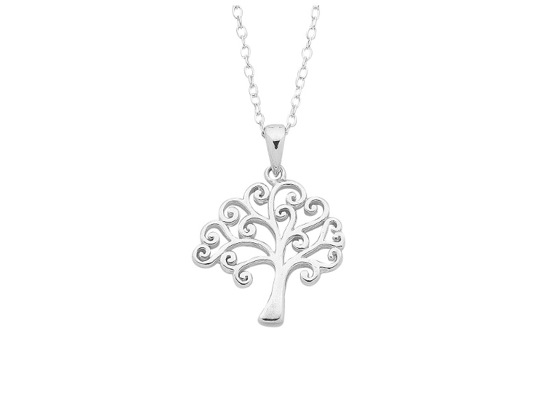Sterling Silver Tree with Belch Necklace
