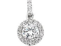 Bevilles Sterling Silver Cubic Zirconia Bale Necklace