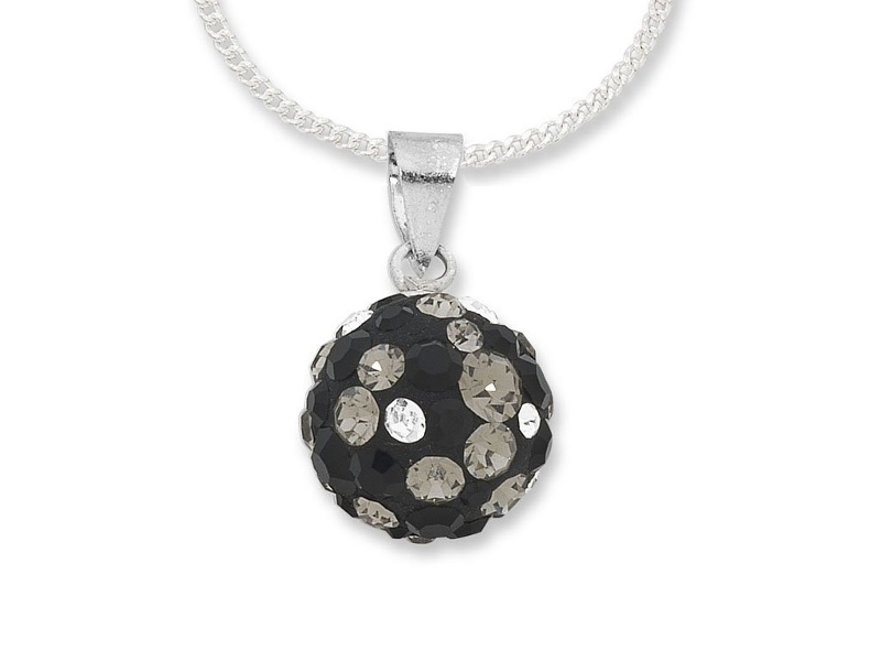 Masquerade Collection Sterling Silver Crystal Necklace