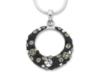 Bevilles Masquerade Collection Sterling Silver Crystal Necklace