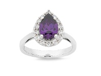 Bevilles Mesmorized Sterling Silver Ring made with Swarovski Zirconia