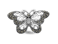Bevilles Mesmorized Sterling Silver Ring made with Swarovski Marcasite