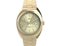 Bevilles Timex Milano XL Gold- tone Dial With Gold-Tone Bracelet