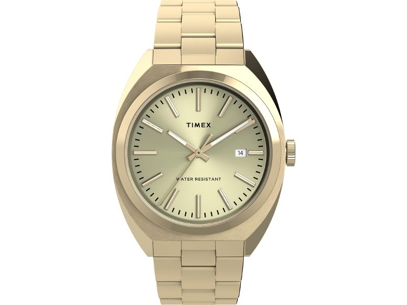 Timex Milano XL Gold- tone Dial With Gold-Tone Bracelet
