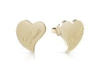 Bevilles Guess Love Gold Plated Guess Love Heart Stud Earrings