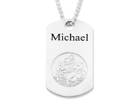 Bevilles Personalised St Christopher Mens Necklace